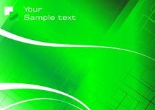 Hoog - technologie groene achtergrond Stock Afbeeldingen