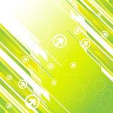 Hoog - technologie groene achtergrond Royalty-vrije Stock Afbeeldingen