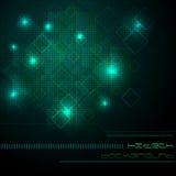 Hoog - technologie groene achtergrond Stock Afbeelding