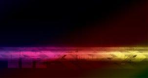 Hoog - technologie kleurrijke illustratie Royalty-vrije Stock Afbeelding