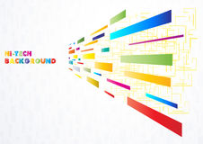 Hoog - technologie Multi-coloured achtergrond Royalty-vrije Stock Foto