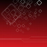 Hoog - technologie rode achtergrond Stock Foto