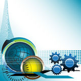 Hoog - technologieachtergrond stock illustratie