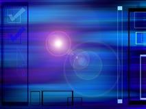 Hoog - technologieachtergrond Stock Foto