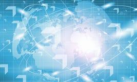 Hoog - technologieachtergrond Stock Afbeelding
