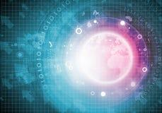 Hoog - technologieachtergrond Royalty-vrije Stock Afbeeldingen