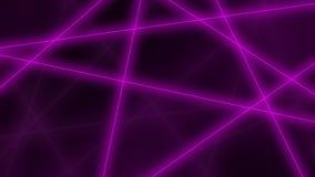 Hoog - technologieachtergrond Abstracte purpere gloeiende lijnencrossings het 3d teruggeven Stock Afbeelding