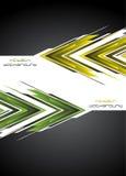 Hoog - technologieachtergrond. Vector illustratie Stock Afbeeldingen