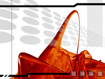 Hoog - technologiemalplaatje Stock Foto's