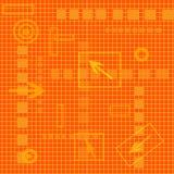 Hoog - technologiematrijs stock illustratie