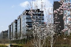 Hoog - technologietuin van Peking. Stock Afbeelding