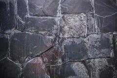 Hoog - Textuur en achtergrond van de kwaliteits de de Donkere Steen Stock Fotografie
