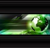 Hoog - Van bedrijfs technologie Abstracte Achtergrond Stock Afbeeldingen