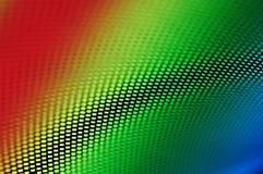 Hoog - veelkleurige technologieachtergrond en traliewerk Stock Afbeelding