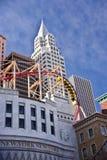 Hoog vliegend over NY, NY royalty-vrije stock afbeeldingen
