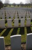 Hooge火山口公墓,伊珀尔,比利时 免版税库存照片
