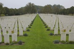 Hooge Crater Cemetery, WWi, Ypres Royalty Free Stock Images