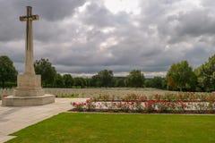 Hooge Crater WW1 Cemetery near Ypres. In Belgium Stock Photos
