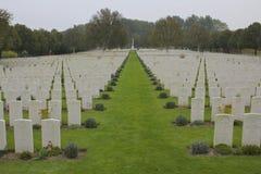 Hooge kraterkyrkogård, WWi, Ypres royaltyfria bilder