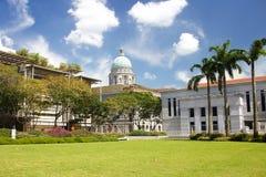 Hooggerechtshof in Singapore Het gebouw was de laatste structuur in de stijl van klassieke victorian architectuur dat in Th moet  Stock Afbeelding