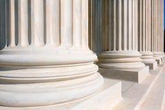 Hooggerechtshof van de kolommenrij van Verenigde Staten royalty-vrije stock afbeeldingen