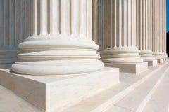 Hooggerechtshof van de kolommenrij van Verenigde Staten stock foto