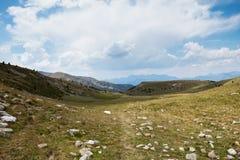 Hooglanden van Andorra stock afbeelding