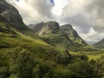 Hooglanden van het landschap van Schotland stock afbeeldingen