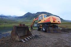 Hooglanden zware machines Stock Foto