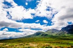 Hooglandenlandschap in Schotland stock foto