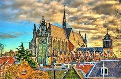 Hooglandse Kerk, a Gothic church in Leiden, the Netherlands royalty free stock photo