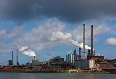 Hoogovens steel factory. In IJmuiden-Velsen, Netherlands Stock Images