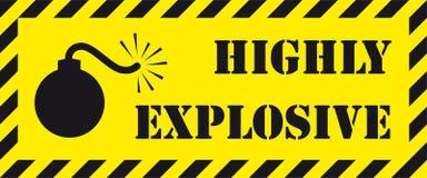 Hoogst explosief uithangbord Royalty-vrije Stock Afbeelding