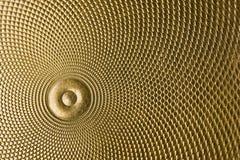 Hoogst gedetailleerde achtergrond die in goud wordt gesneden stock foto