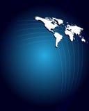 Hoogst gedetailleerde kaart van de wereld Stock Afbeeldingen