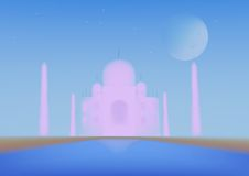 Hoogst Gedetailleerde Taj Mahal Royalty-vrije Stock Fotografie