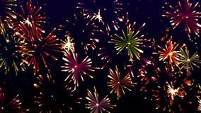 Hoogst kleurrijke het gloeien vuurwerkvideo, royalty-vrije illustratie