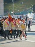 Hoogste ambtenaren van het Oekraïense Leger bij de militaire parade binnen Stock Fotografie