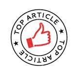 Hoogste Artikel rubberzegel royalty-vrije illustratie