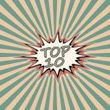 Hoogste banner tien vector illustratie