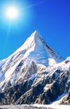 Hoogste berg van berg de piekeverest in de wereld Nationaal P stock foto
