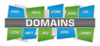 Hoogste Bodem van domeinen de Groenachtig blauwe Vierkanten Stock Foto