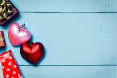 Hoogste de giftdoos van het menings rode roze hart Royalty-vrije Stock Foto