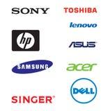 Hoogste de merkenemblemen van de overlapping Stock Afbeelding
