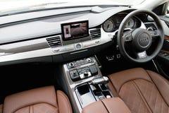 Hoogste de rangbinnenland van Audi S8 Stock Foto