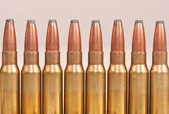 Hoogste deel van geweerkogels Royalty-vrije Stock Foto's
