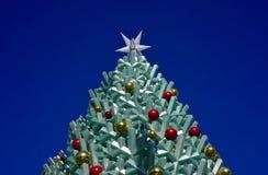 Hoogste deel van Kerstboom stock afbeeldingen