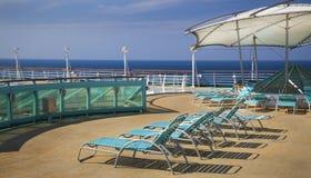 Hoogste dek van cruiseschip Stock Afbeelding