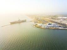 Hoogste het Strandwaterkant van het meningsnoorden in Corpus Christi, Texas, de V.S. royalty-vrije stock afbeeldingen