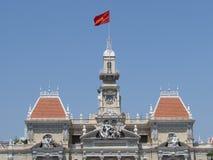Hoogste Ho Chi Minh City Hall Royalty-vrije Stock Foto's
